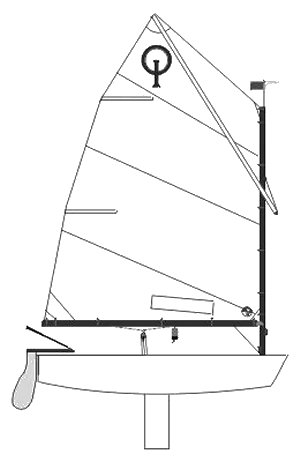 optimist dinghy drawing